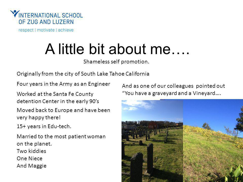 A little bit about me…. Shameless self promotion.