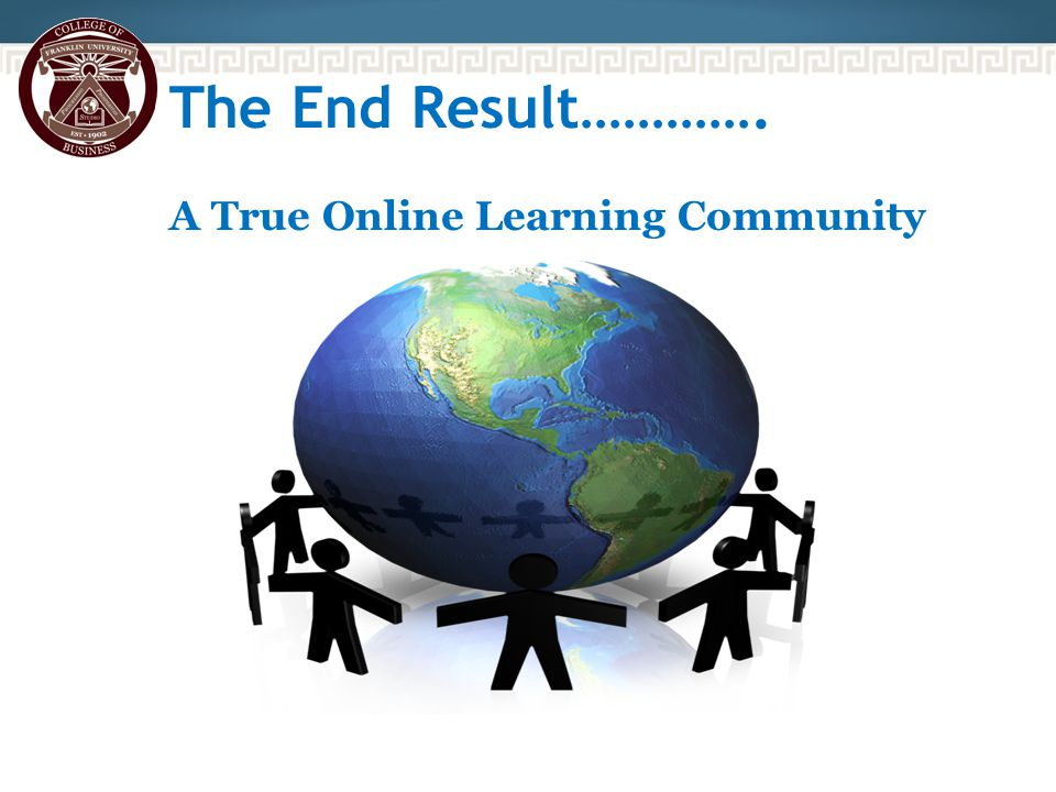 The End Result…………. A True Online Learning Community