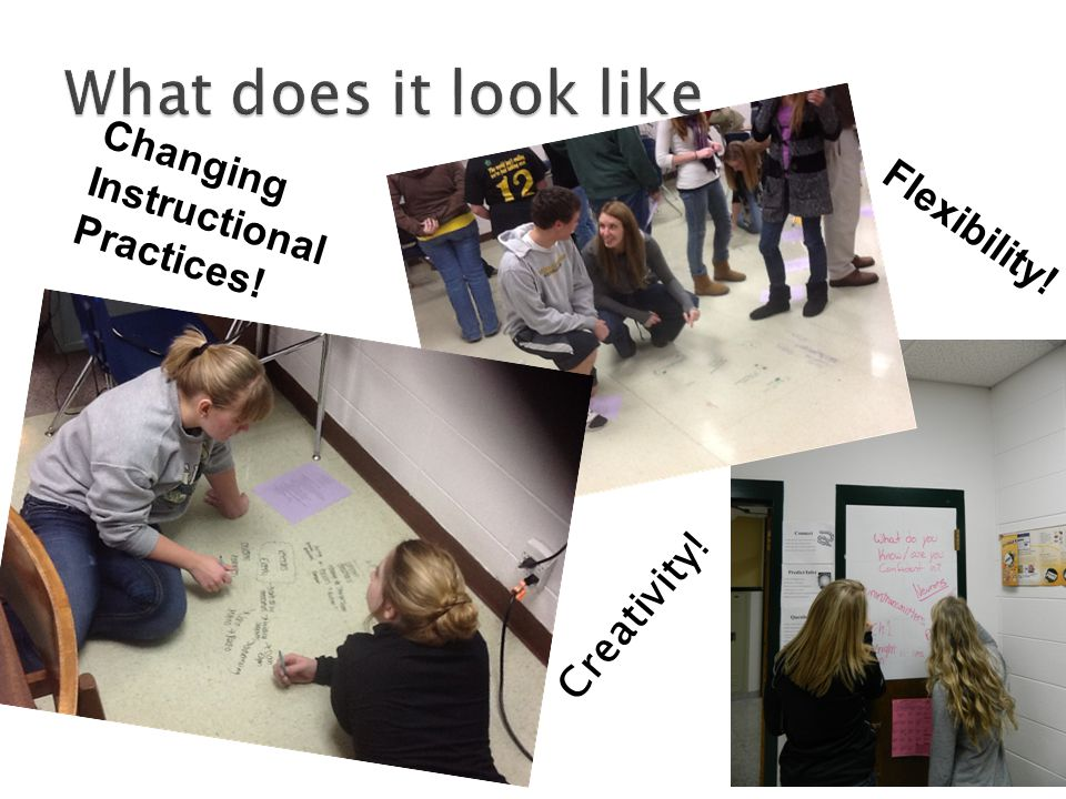 Creativity! Changing Instructional Practices! Flexibility!
