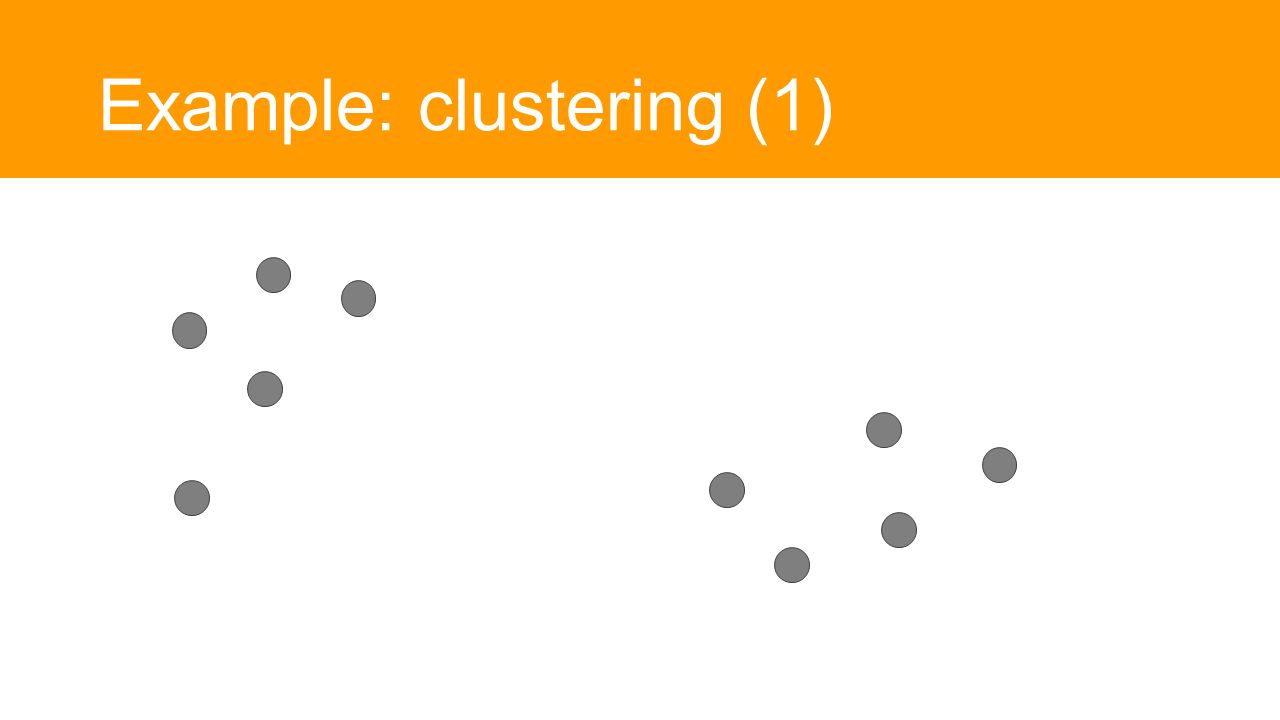 Example: clustering (1)