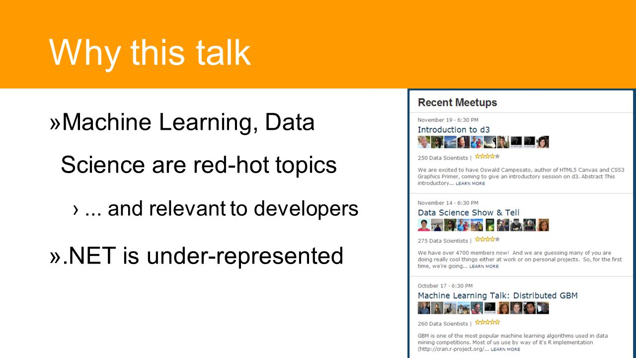 Why this talk  Machine Learning, Data Science are red-hot topics ›...