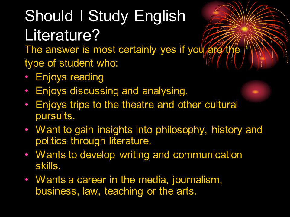 Should I Study English Literature.