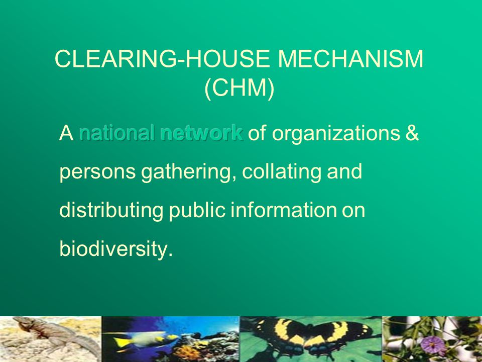 CLEARING-HOUSE MECHANISM (CHM)