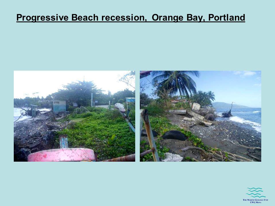 Progressive Beach recession, Orange Bay, Portland
