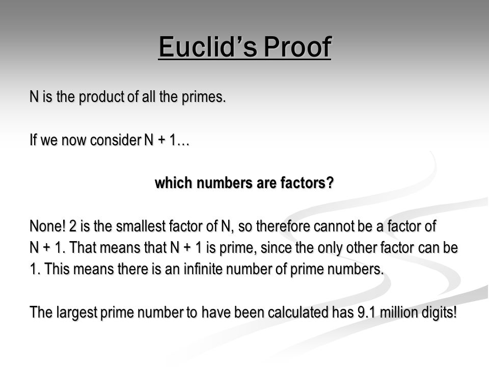 Prime Numbers In Code Breaking For Example… Let our message be E .