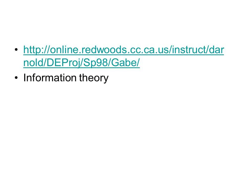 http://online.redwoods.cc.ca.us/instruct/dar nold/DEProj/Sp98/Gabe/http://online.redwoods.cc.ca.us/instruct/dar nold/DEProj/Sp98/Gabe/ Information theory