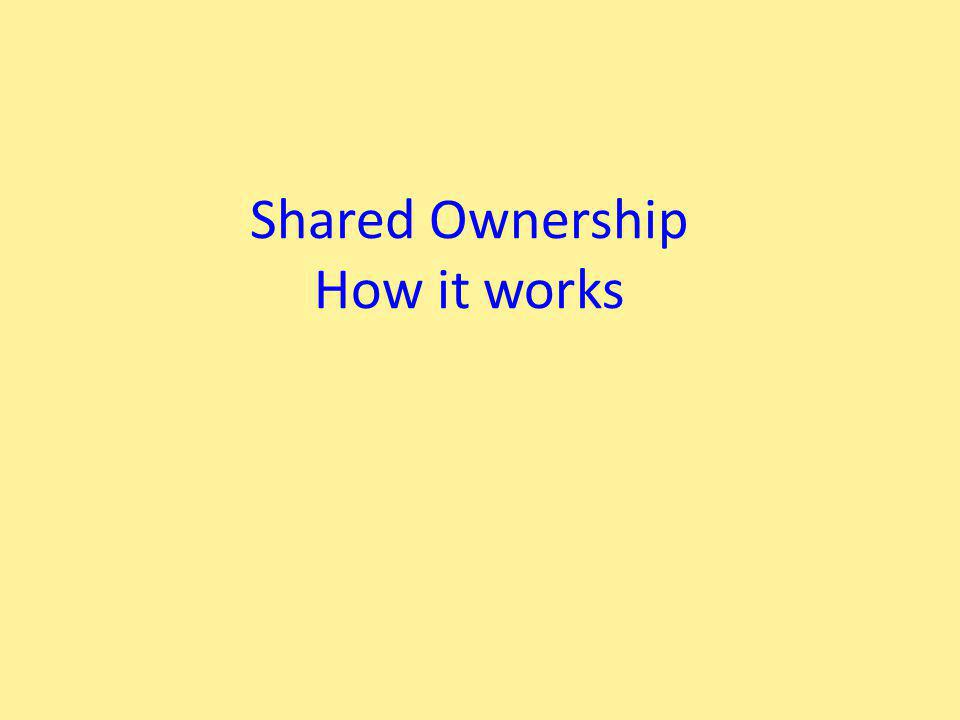 Shared Ownership How it works