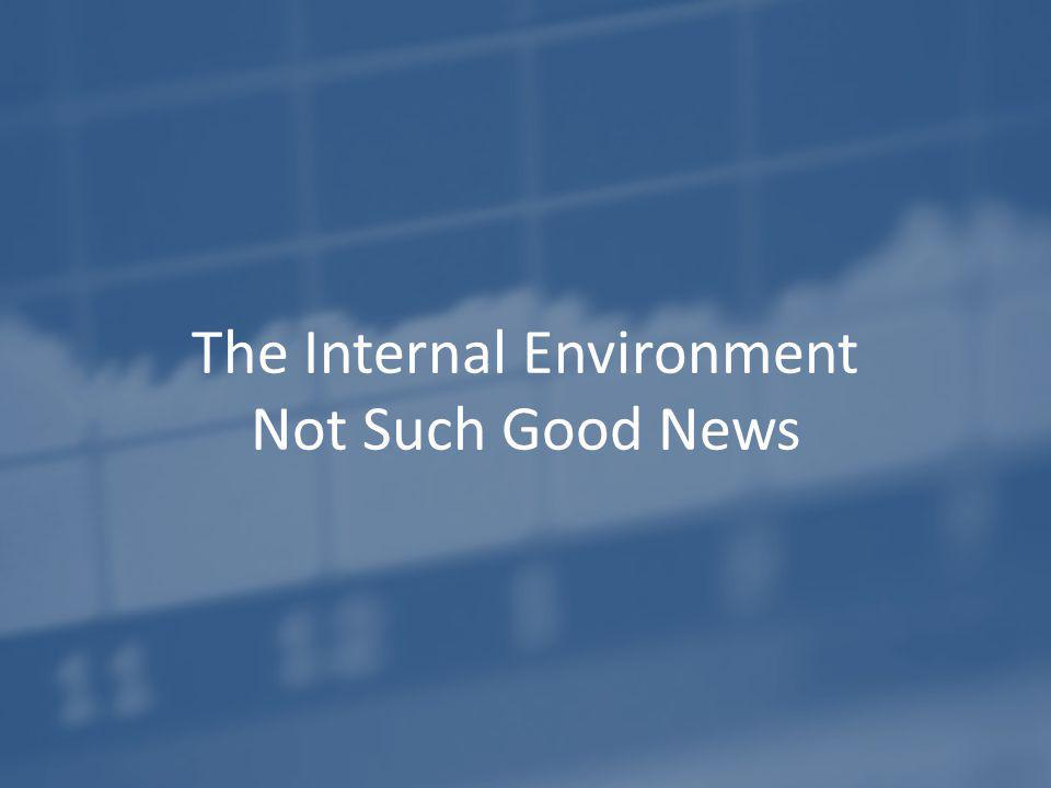 The Internal Environment Not Such Good News