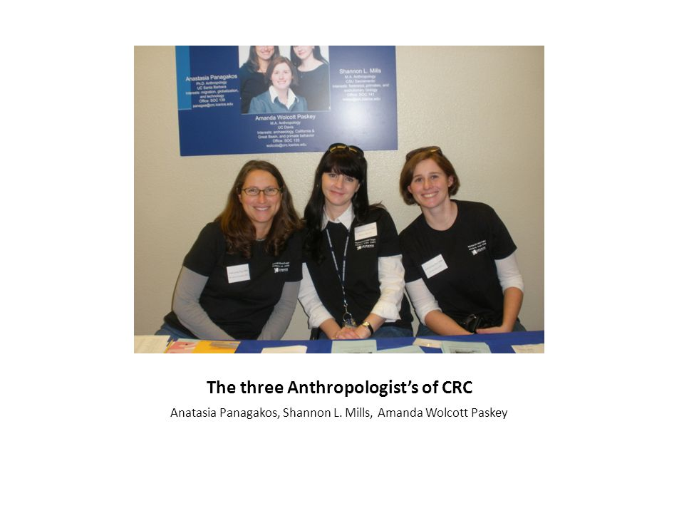 The three Anthropologist's of CRC Anatasia Panagakos, Shannon L. Mills, Amanda Wolcott Paskey