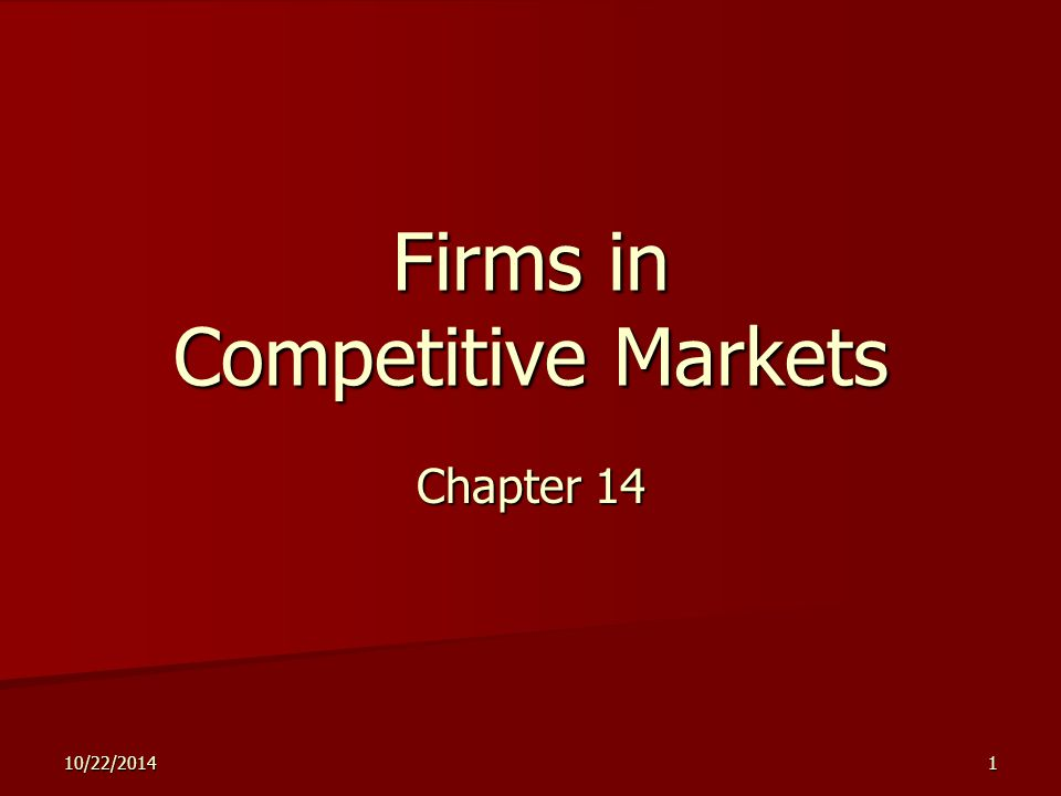 2 Outline What Is a Competitive Market.What Is a Competitive Market.
