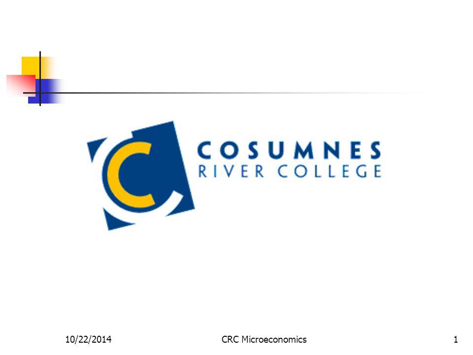 10/22/2014CRC Microeconomics1