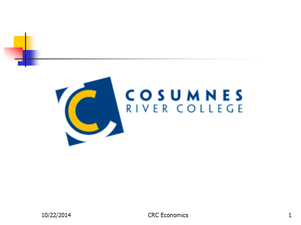 10/22/2014CRC Economics2 What did we talk about last time.