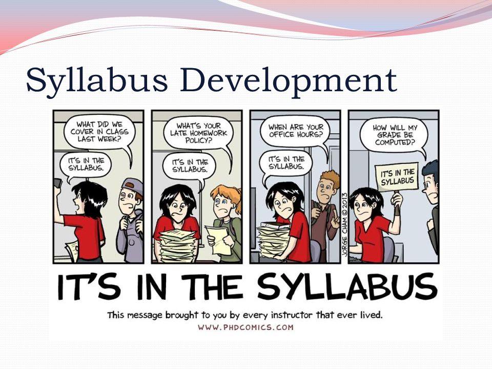 Syllabus Development