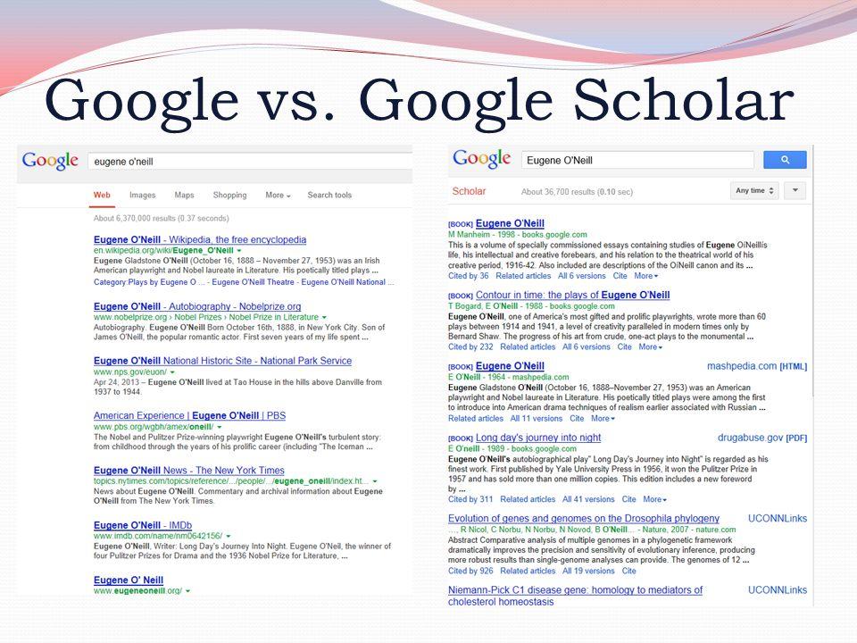 Google vs. Google Scholar