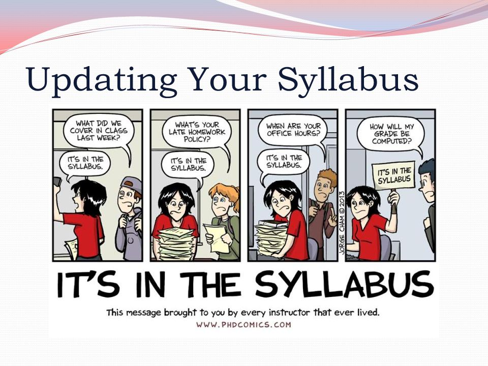 Updating Your Syllabus