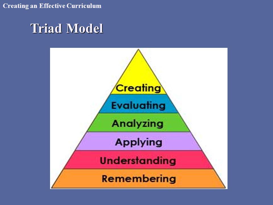 Creating an Effective Curriculum Triad Model