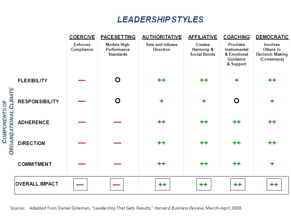 Leadership Style: Two Perspectives Impact (Outside-In) How do others experience you.
