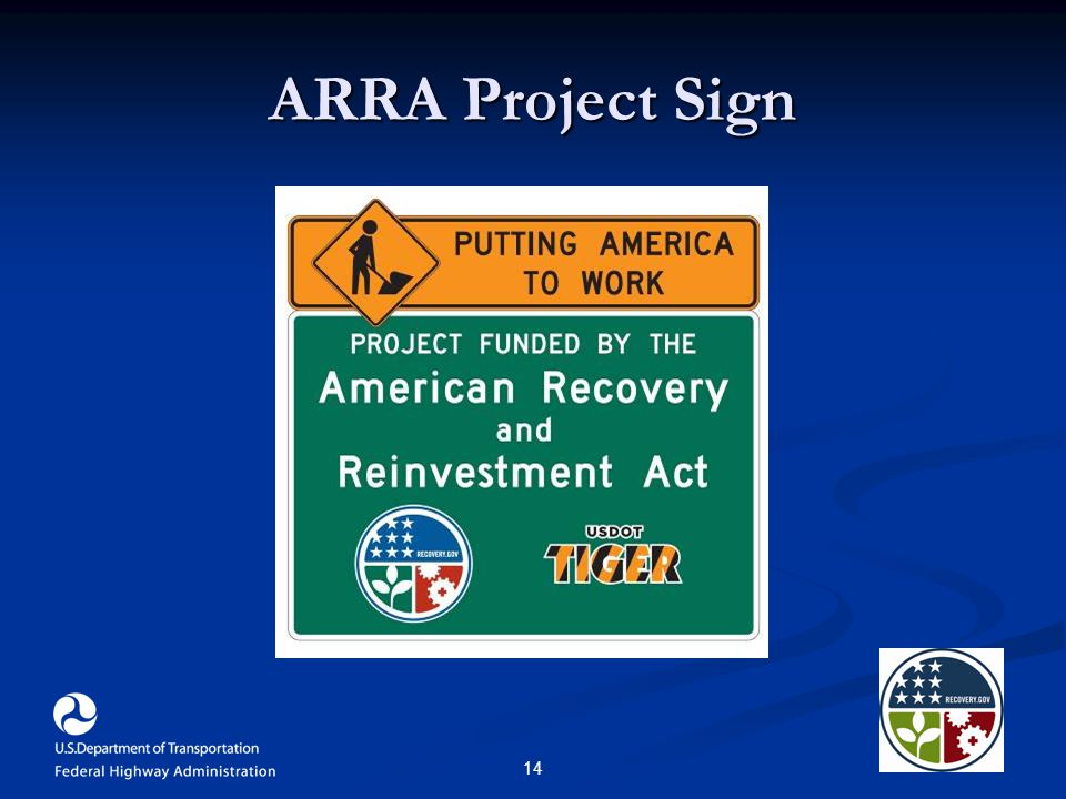 14 ARRA Project Sign