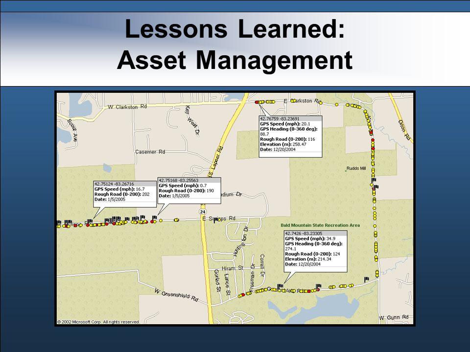 Lessons Learned: Asset Management