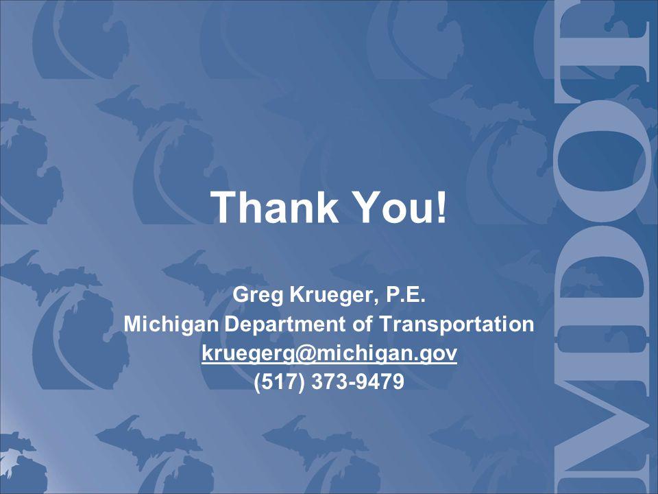 Thank You. Greg Krueger, P.E.
