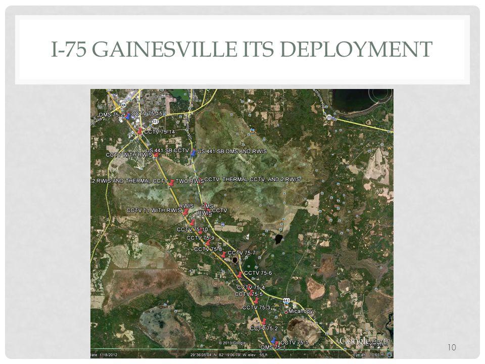 I-75 GAINESVILLE ITS DEPLOYMENT 10