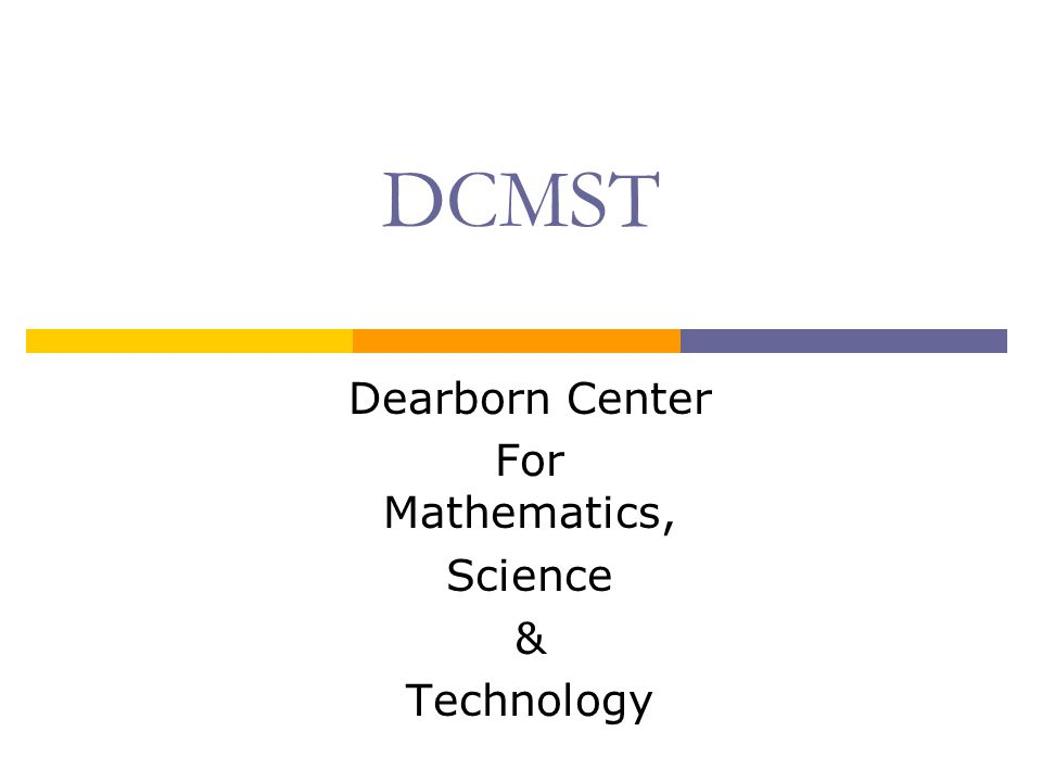 DCMST and College Courses Juniors and Seniors may take college classes (at HFCC or UMD) with approval of DCMST faculty