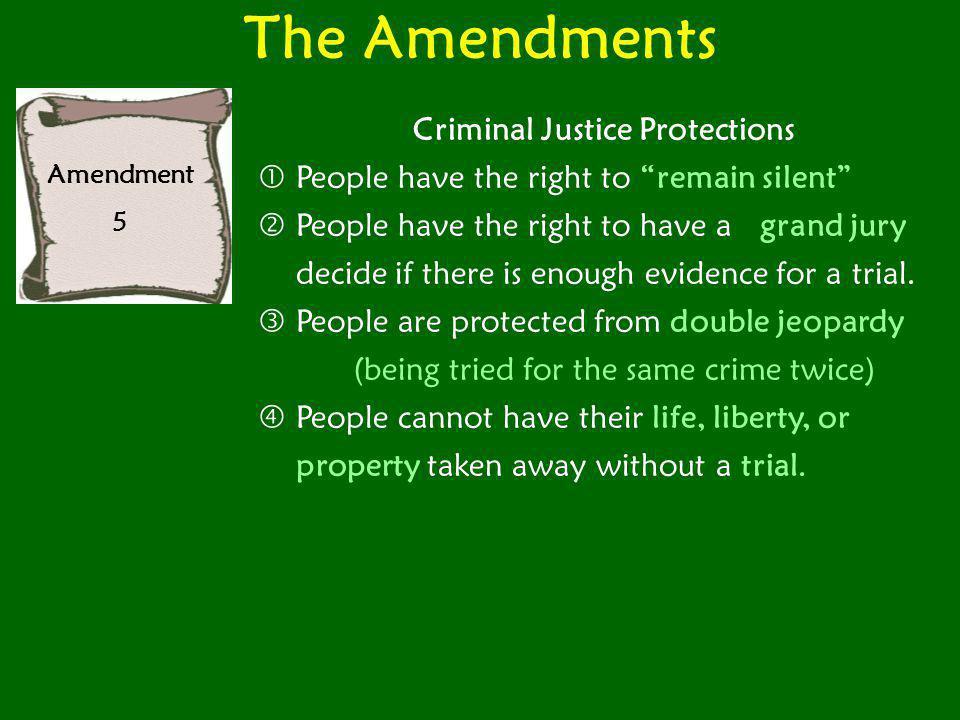 The Amendments Amendment 6 The sixth amendment protects peoples' right to...