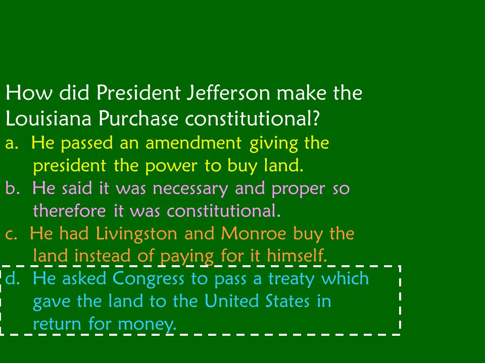 Which TWO men did Thomas Jefferson put in charge of the expedition to explore the Louisiana Purchase?
