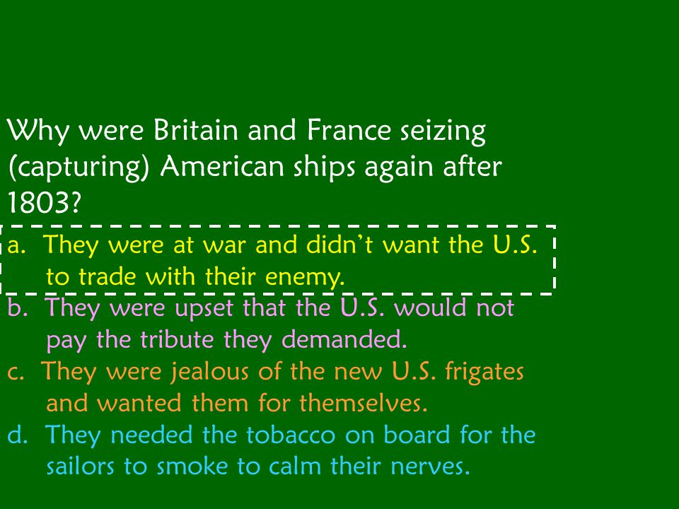 What did the Embargo Act of 1807 say?