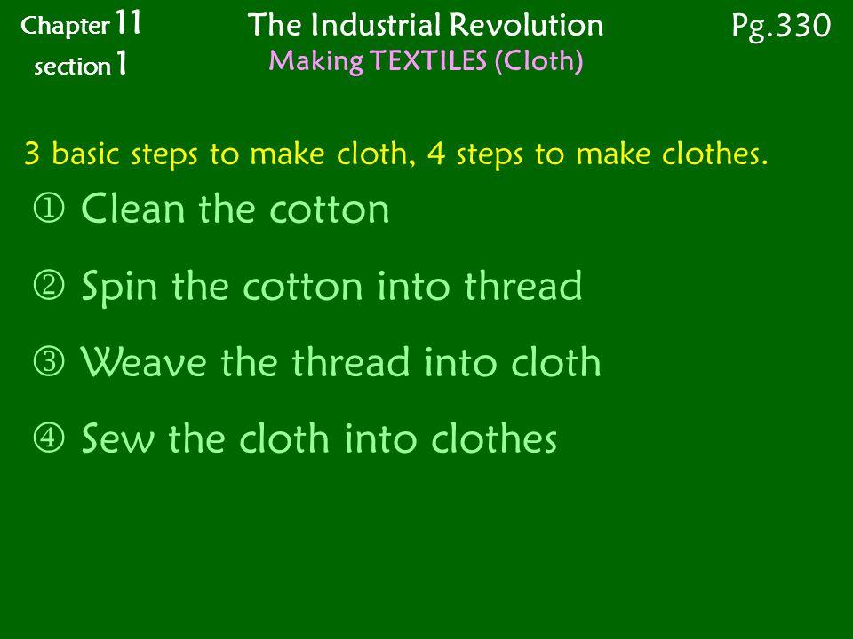 3 basic steps to make cloth, 4 steps to make clothes.