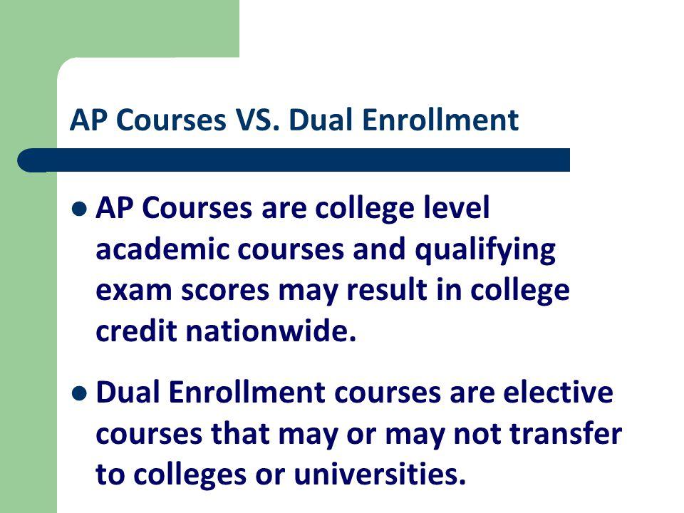 AP Courses VS.