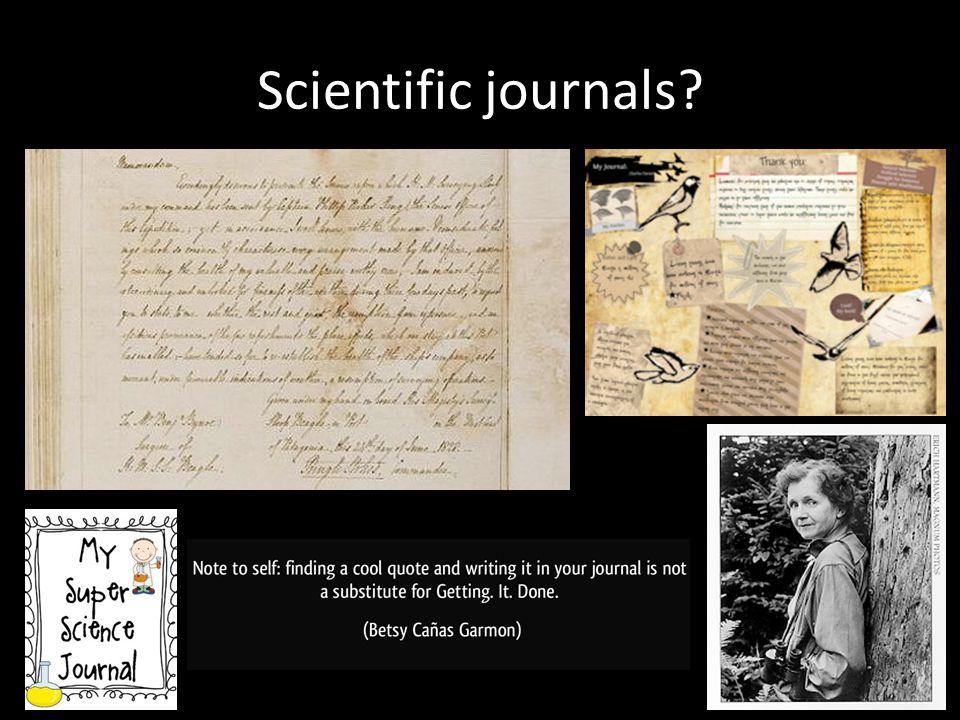 Scientific journals?