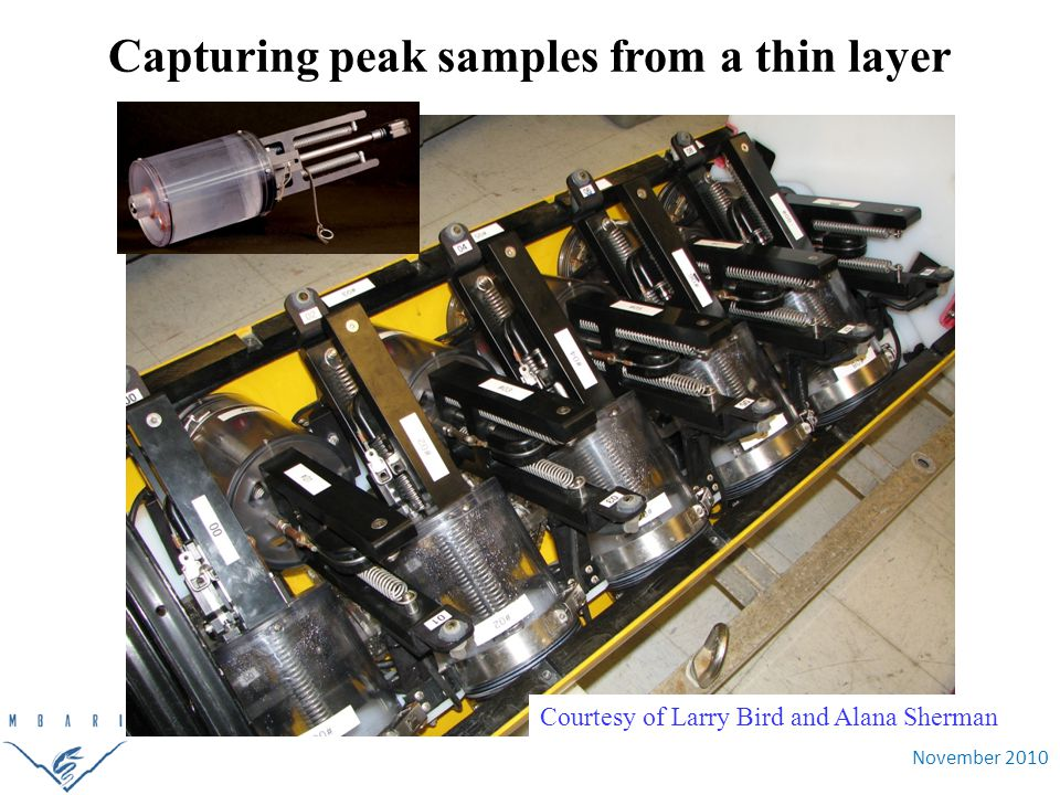 November 2010 Courtesy of Larry Bird and Alana Sherman Capturing peak samples from a thin layer