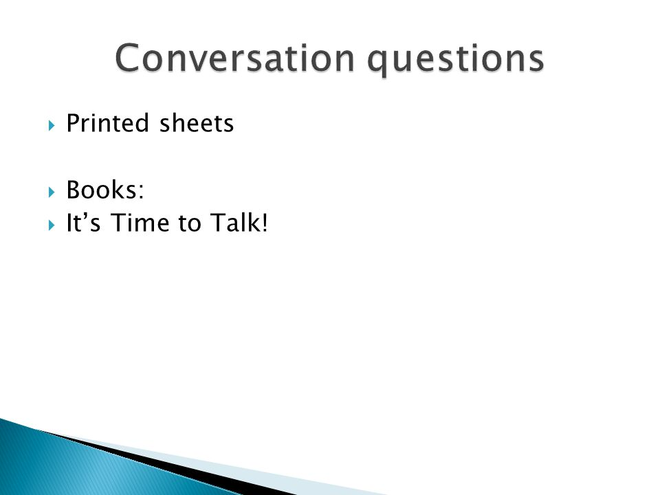  Books:  It's Time to Talk!