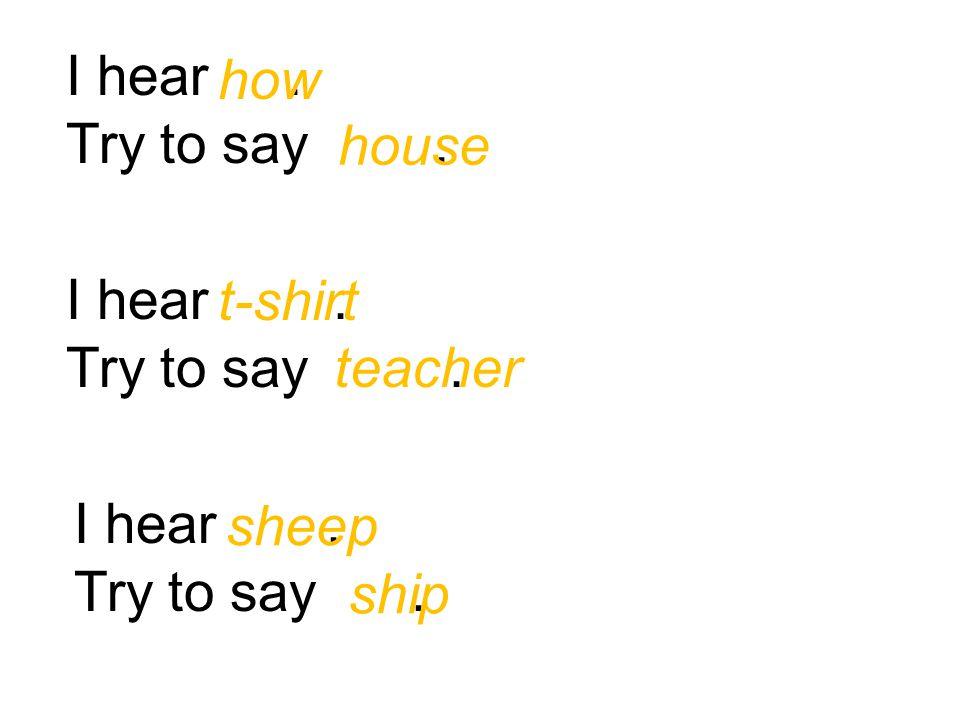 Pronunciation Tool Number Three