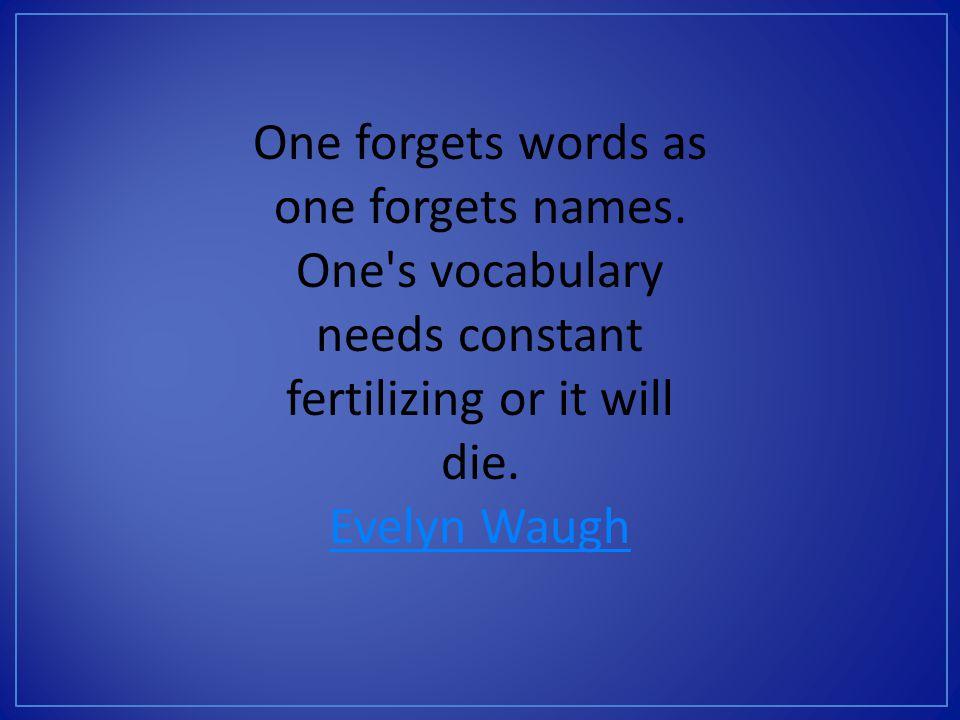 Allen, J. (1999) Words, words, words: teaching vocabulary in grades 4-12.