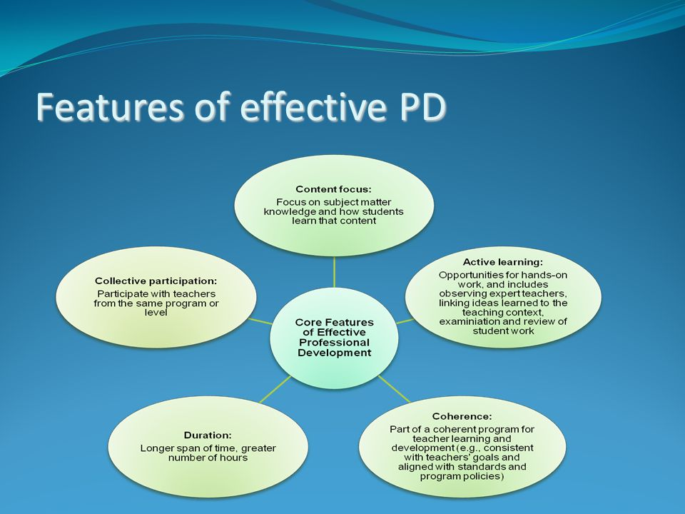 Features of effective PD
