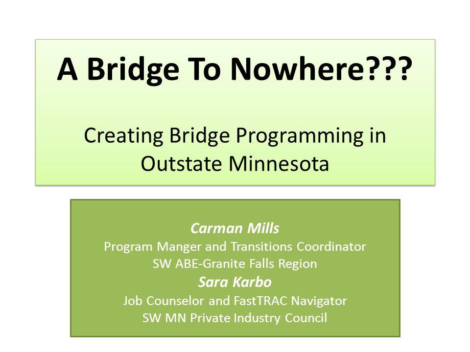 Bridge Program Definition What is it.