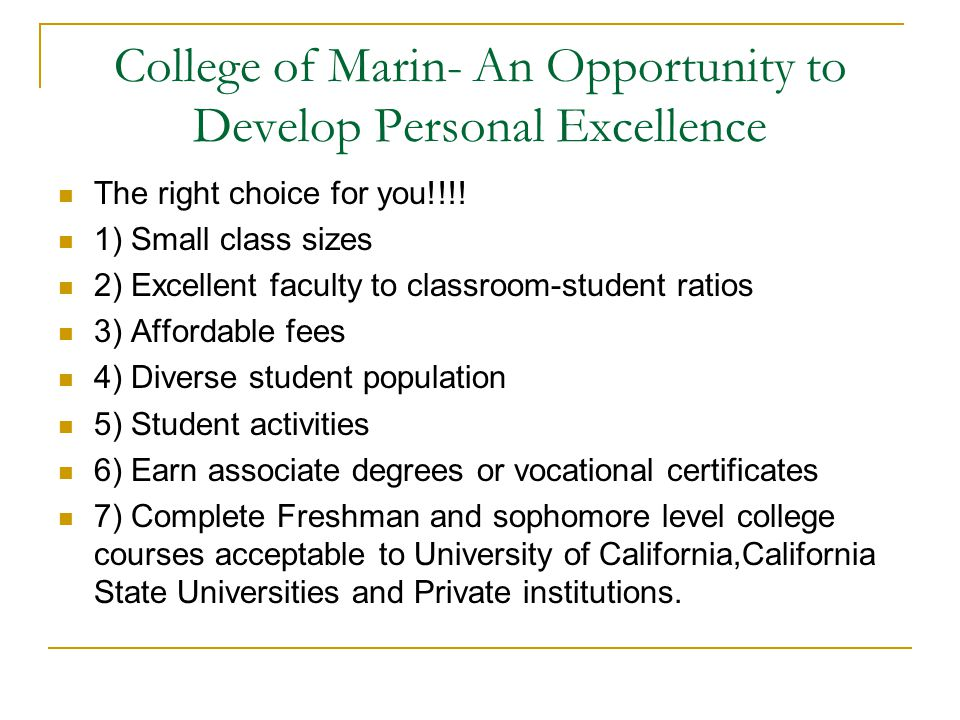 College of Marin – Terms and Definitions Non Progress Grades – (NPG)  Grades of I, NC & W Grade Points  Each letter grade has the following point assignment for each unit.