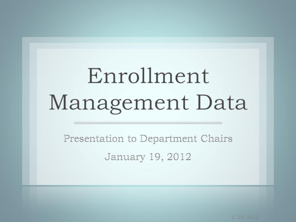 2 Student Success Task Force Report (State Level) Student Success Initiatives (COM SSI) Enrollment Management Plan (Part of SSI) Enrollment Management Data