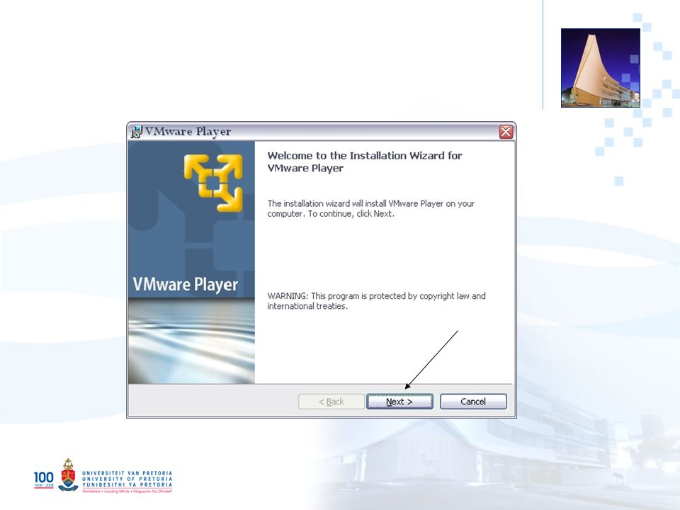 17 Log on to your VMWare image with: u ser = dspace ; password = dspace