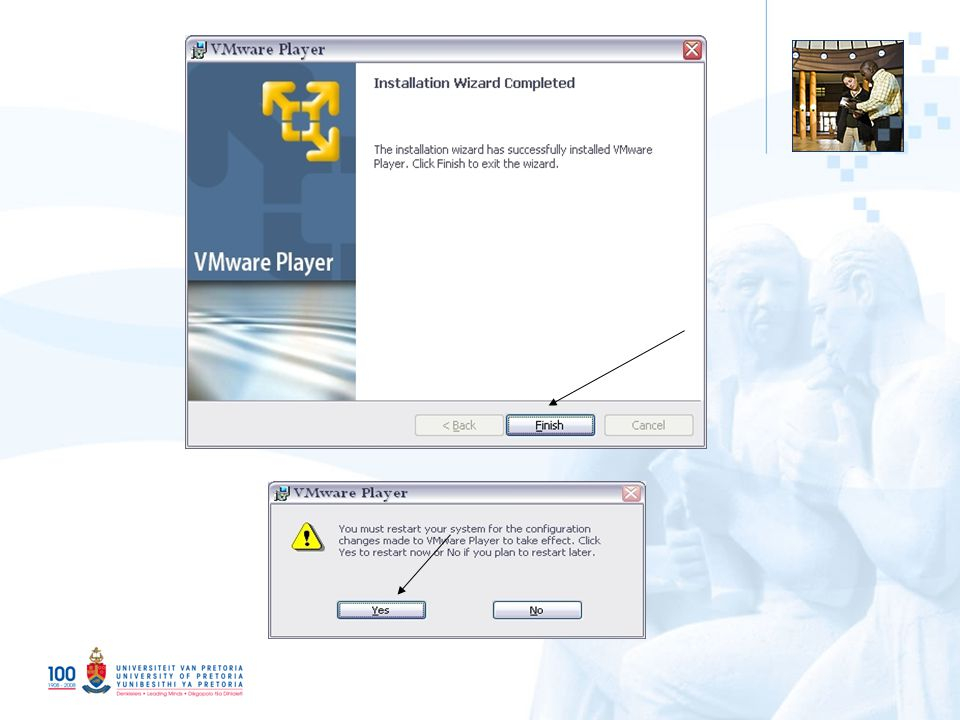 9 Copy and start the VMWare Image Copy the contents of the DVDs to somewhere easy accessible i.e: C:\vmware_images\dspace