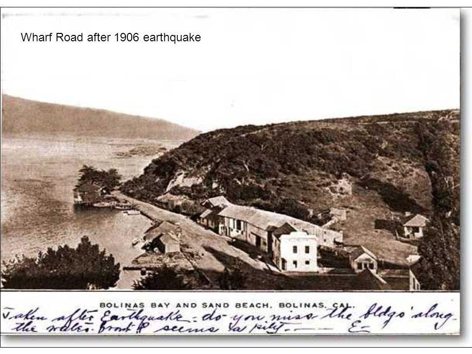 House Wharf Road after 1906 earthquake