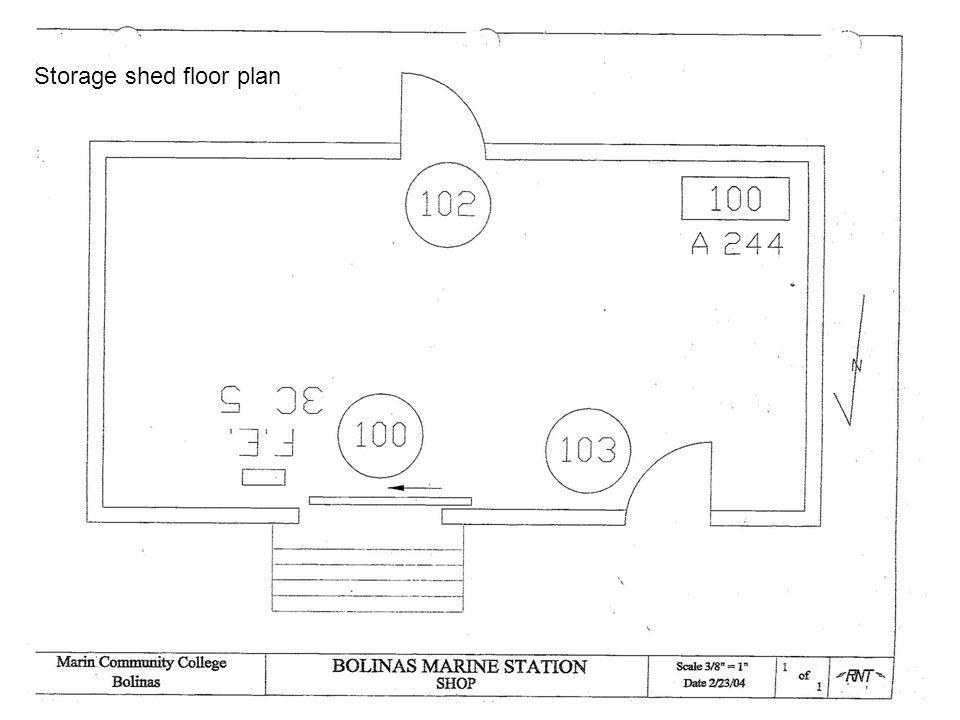 Storage shed floor plan