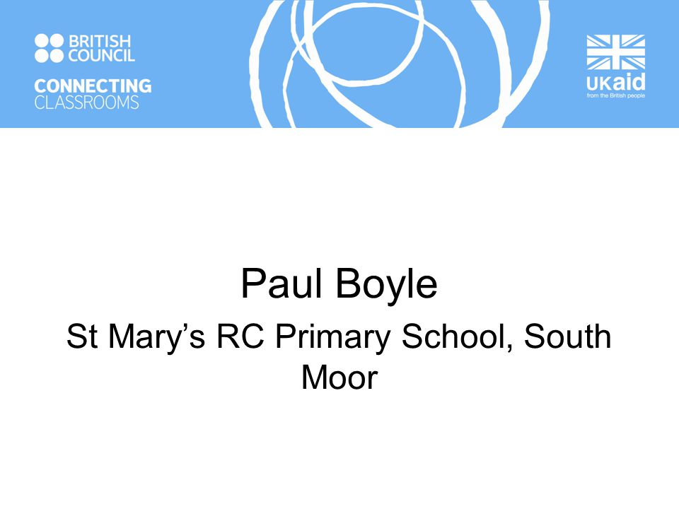 Paul Boyle St Mary's RC Primary School, South Moor