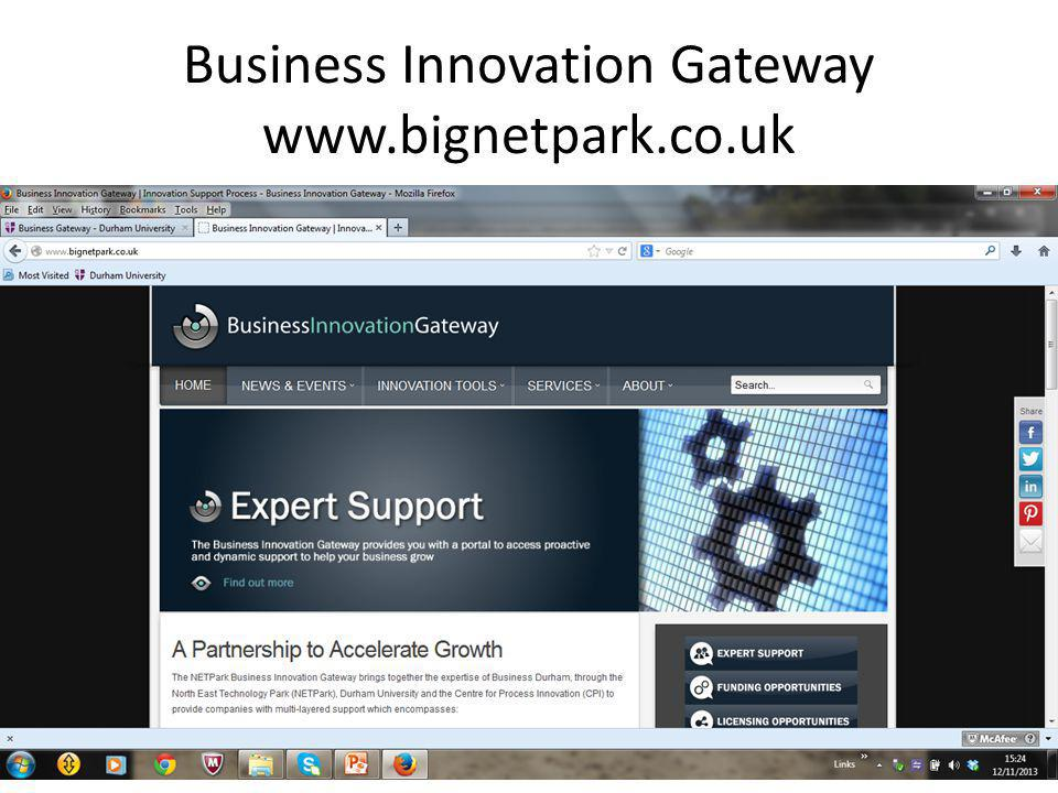 Business Innovation Gateway www.bignetpark.co.uk