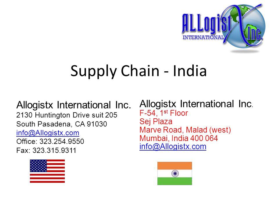 Supply Chain - India Allogistx International Inc.