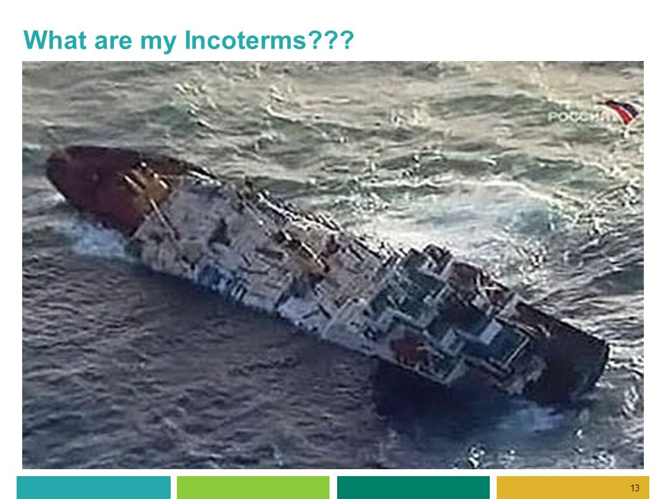 13 What are my Incoterms???