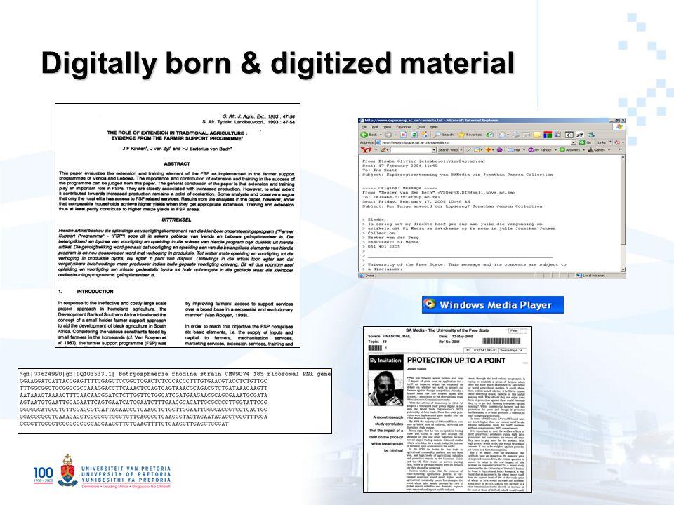 Digitally born & digitized material