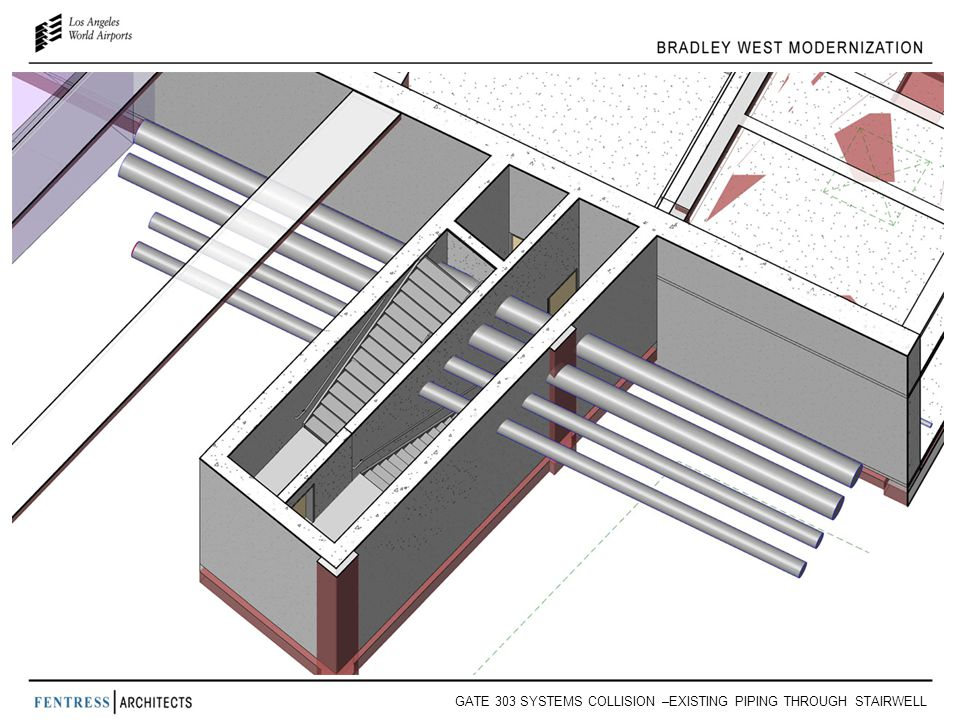 GATE 303 SYSTEMS COLLISION –EXISTING PIPING THROUGH STAIRWELL